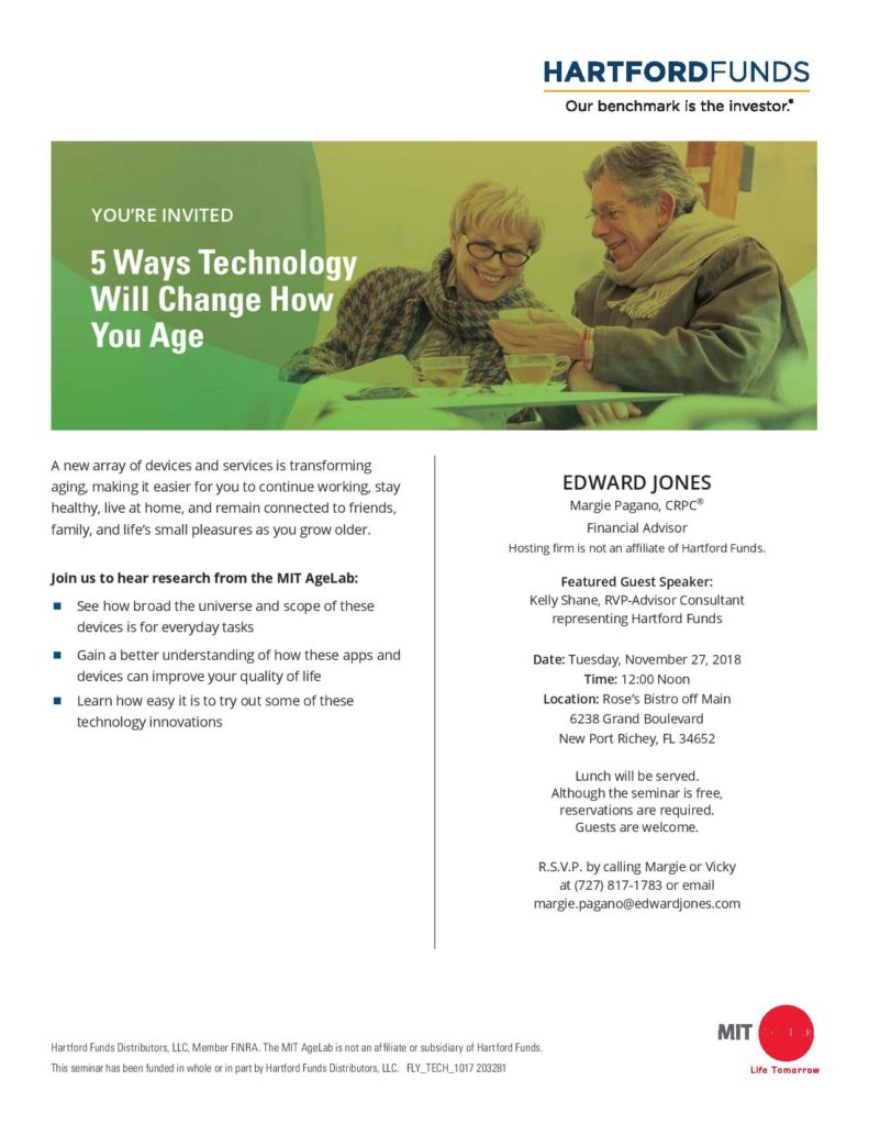 5 Ways Technology Will Change How You Age Seminar @ Rose's Bistro off Main