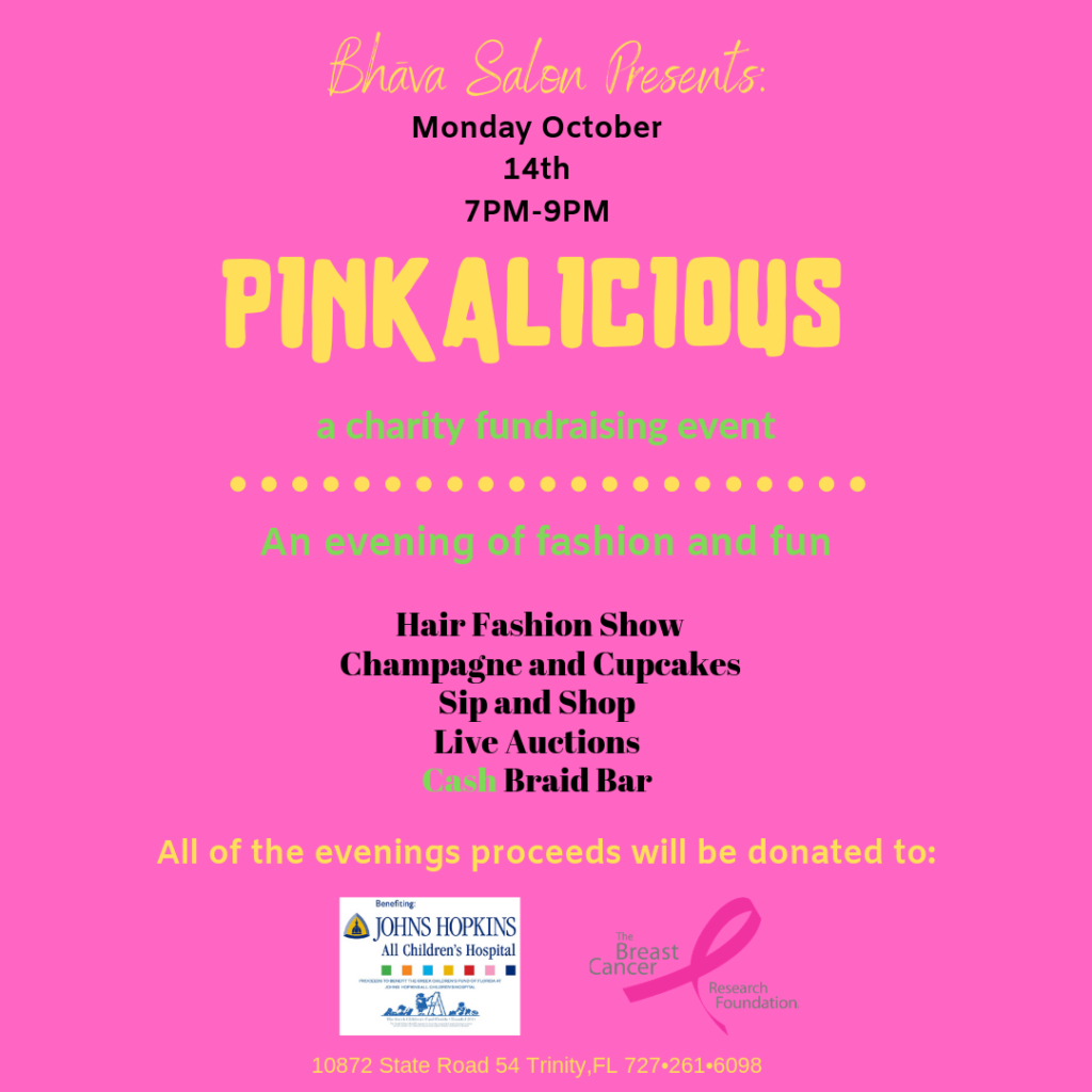 Pinkalicious: A Charity Fundraising Event @ Bhava Salon